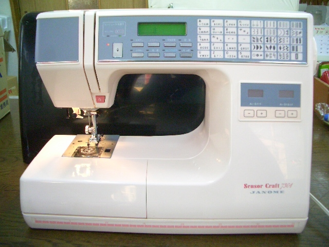 縫い目がきれいな ジャノメコンピューターミシン Sensor Craft 7301